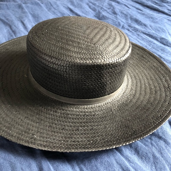 add50967cbb24 Janessa Leoné Accessories - Janessa Leoné Black Boater Hat